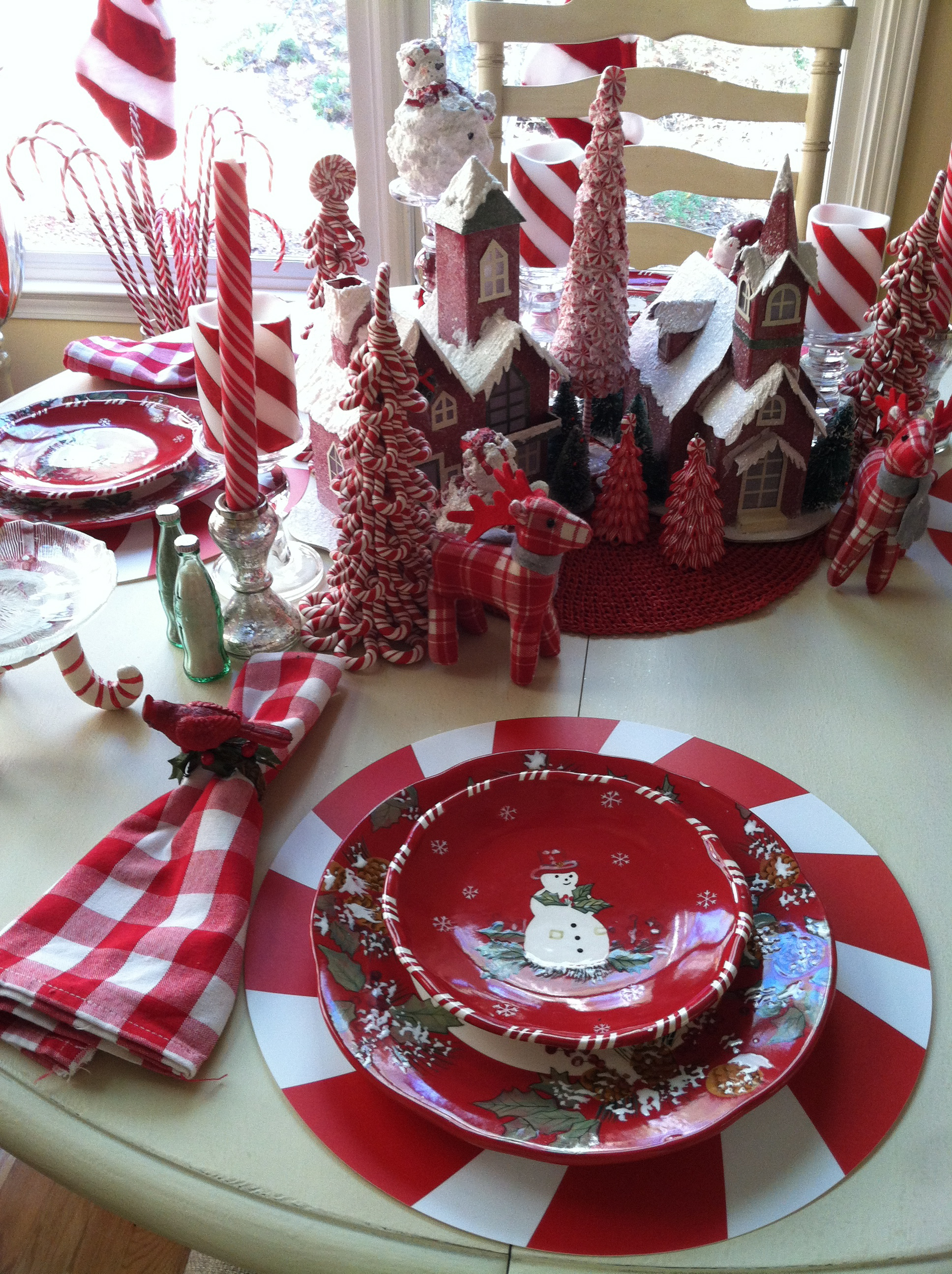Red And White Christmas Table Setting Ideas Images & Pictures - Becuo